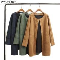 WSYORE Winter Jacket Women Loose Coat 2018 New Autumn Suede Coat Women Plus Size Loose Long Sleeve Winter Suede Jackets NS367