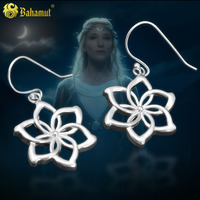 LOTR JEWELE Fashion Flower Long Earring For Women Lovely Girls Gift 925 Sterling Silver Jewelry A Pair Sale New Design