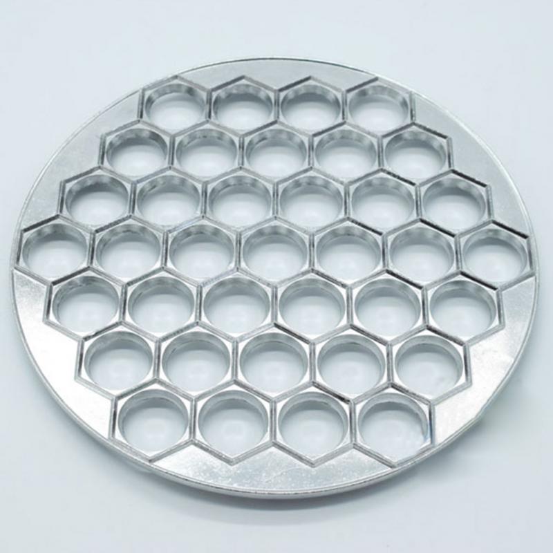 37 Holes Dumpling Mould Dumplings Maker Aluminum Ravioli Mold Pelmeni Dumplings DIY Tools Dumpling Pastry Make 5 in Pie Tools from Home Garden