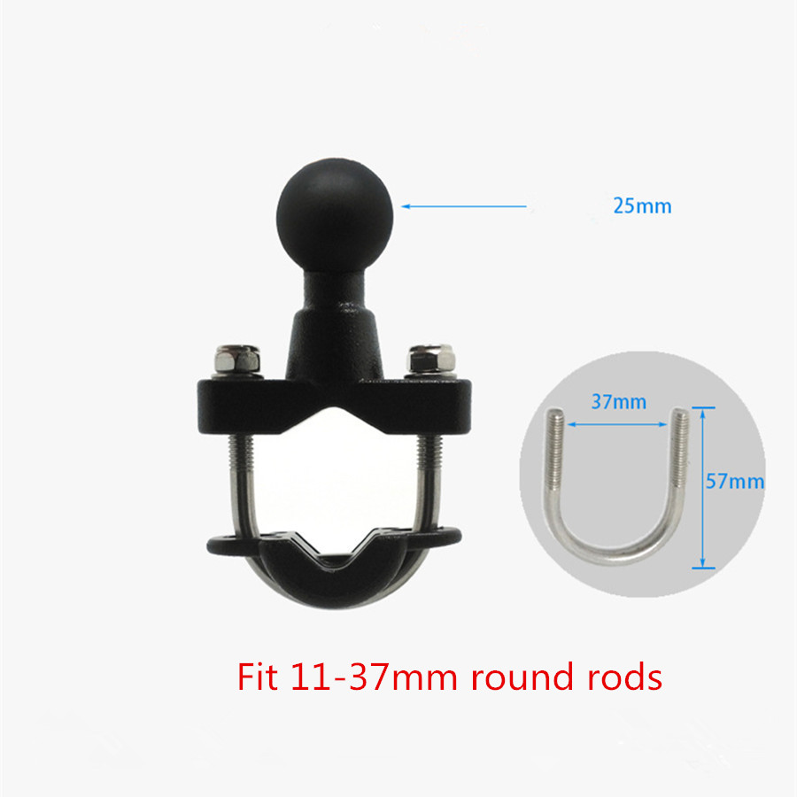 Image 3 - Jadkinsta Generic Quality Plastic Motorcycle Handlebar Rail Mount X Grip Cell Phone Smartphone Holder for iPhone for ram mounts-in Photo Studio Accessories from Consumer Electronics