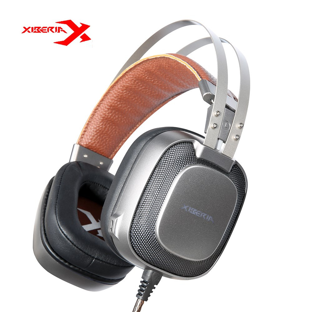 Original XIBERIA K10 USB Gaming Headset Headphones With Microphone Deep Bass LED Light PC Gaming Headphones With Retail Package