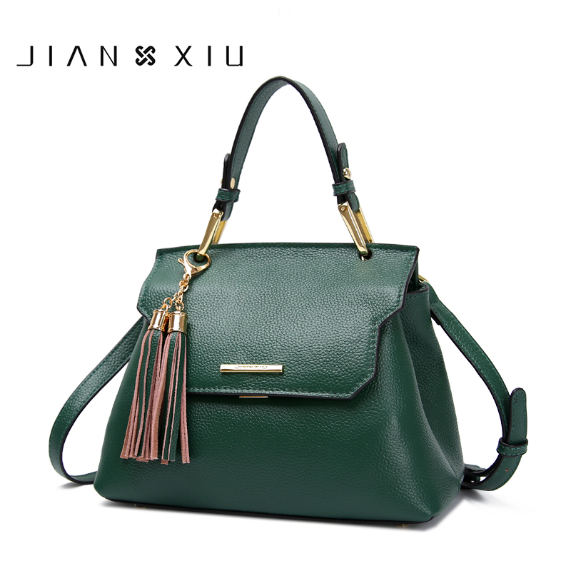 JIANXIU Brand luxury Genuine Leather Women Bag Designer Ladies Handbags bolsa feminina Shoulder Bags for women 2018 New handbag women genuine leather handbag brown ladies shoulder bags high quallity female tote purses handbags designer brand bolsa feminina