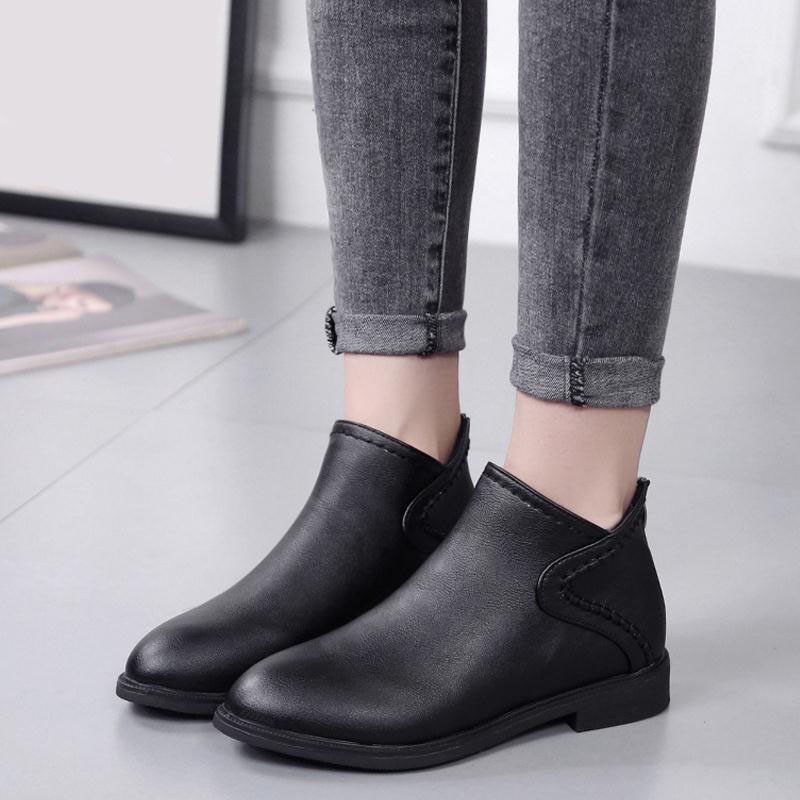 KemeKiss Women Simple Boots Zipper