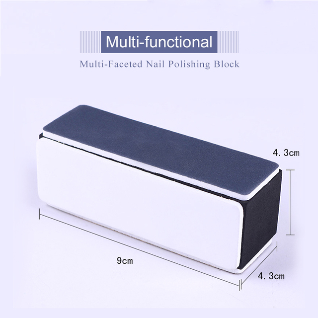 Nail Buffers Curve Straight Sanding Sponge Files Grinding Polishing Nail File Manicure Nail Art Tool