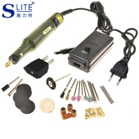 Slite DIY Electric Grinder Set Mini Electric Drill Dremel Rotary Tool Pen Grinding Dremel Accessories Sharpening Knives