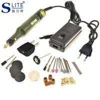 Slite DIY Electric Grinder Set Mini Electric Drill Dremel Rotary Tool Pen Grinding Dremel Accessories Sharpening Knives