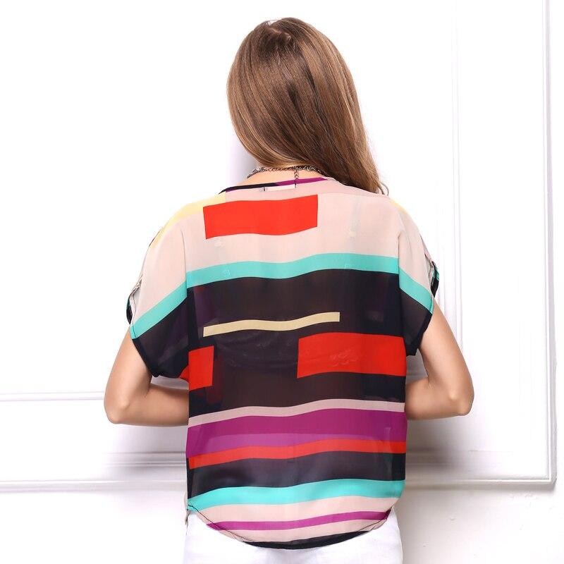 Կանանց նորաձևության գծավոր շիֆոն - Կանացի հագուստ - Լուսանկար 4
