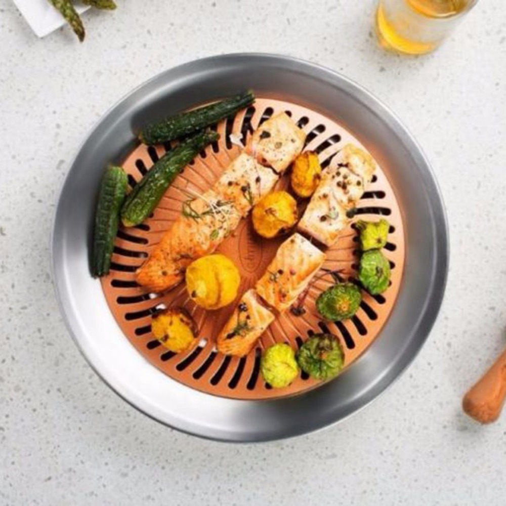 Nonstick Smokeless Indoor Stove Top Coating Steel Barbecue Grill Outdoor Portable BBQ Baking Tray Healthy Kitchen Cooking Tool