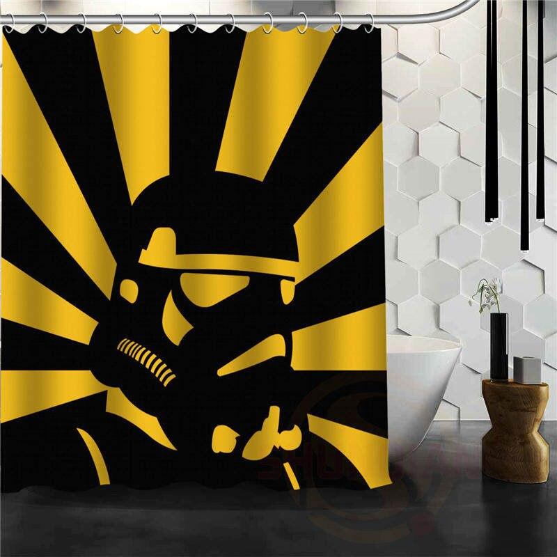 New Custom Cool Star Wars Logo Blue Background Waterproof Fabric Shower Curtain