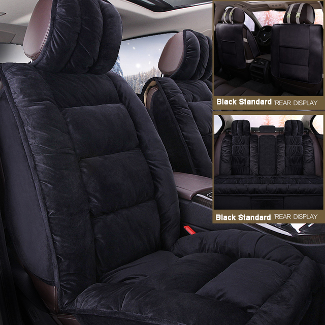 New Brand Luxury Fur Australian Sheepskin Car Seat Covers Universal