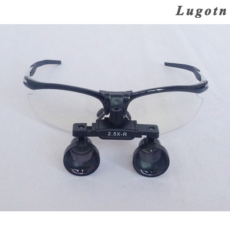 2.5X magnification surgical magnifier medical magnify antifog aluminium alloy durable long working distance dental loupe 3 5x magnification 420mm working distance white loupes amplification dental cure loupe medical surgical therapy magnifier
