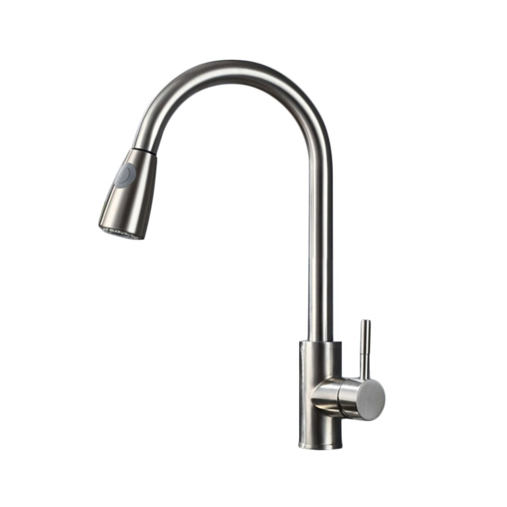 Stainless Steel Home Kitchen Bathroom Basin Sink Water Faucet Tap Pull Out Spray Cold & Hot Water Faucet Tap Tools hot sale kitchen bathroom tools daily necessities thicken candy color water ladle