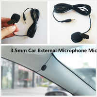 Mini Portable Professional Car Audio Microphone 3.5mm Jack Plug Mic Stereo Mini Wired External Microphone for Auto MP5 DVD Radio