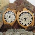 Marca Qound amante de Pulso De Madeira De Bambu Com Alta Relógio de Quartzo Movimento Japen 2035 MOYOTA E Caixa de Presente Da Moda