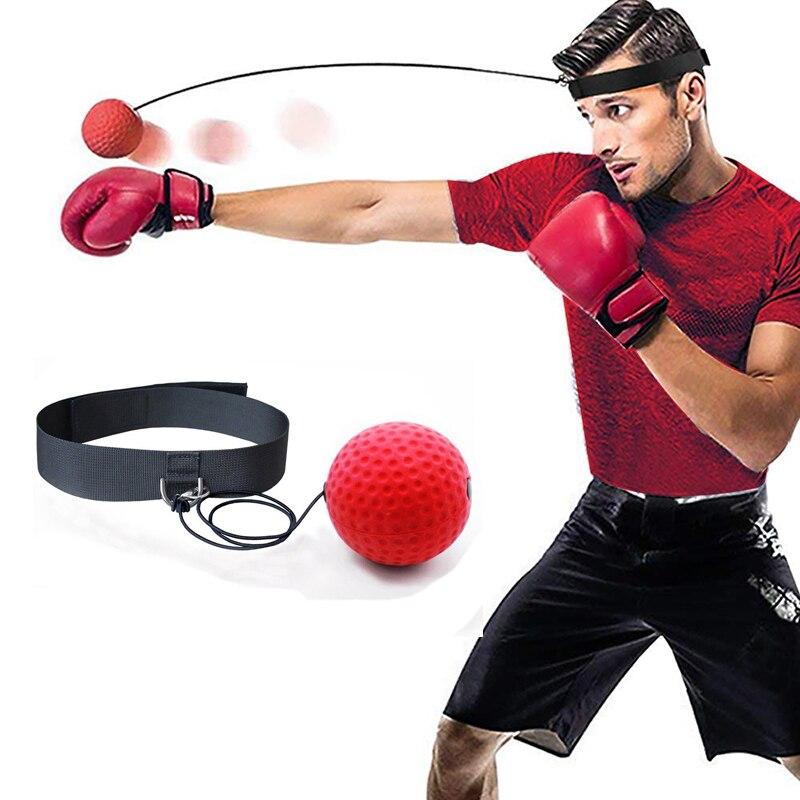 Boxing Reflex Speed Punch Ball MMA Sanda Boxer Raising Reaction Force Hand Eye T