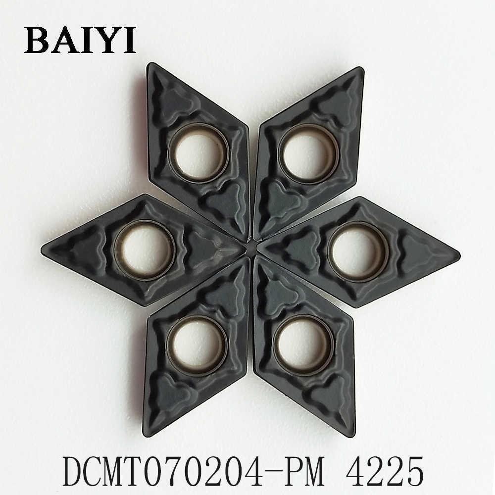 10 pcs Carbide insert DCMT070204 PM 4225 de metal externo virando ferramenta torno CNC transformando inserir inserção de fresagem