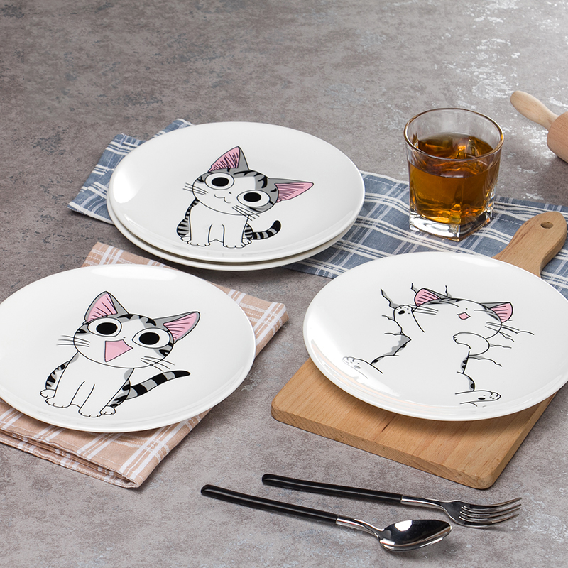 Mignon chat de Bande Dessinée Dessert Spaghetti plaque assiette à ...