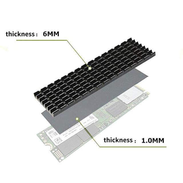 Heatsink Heat Dissipation Radiator M.2 NGFF Cooling Heat Sink Heat Thermal Pads for M.2 NGFF 2280 PCI-E NVME SSD 3