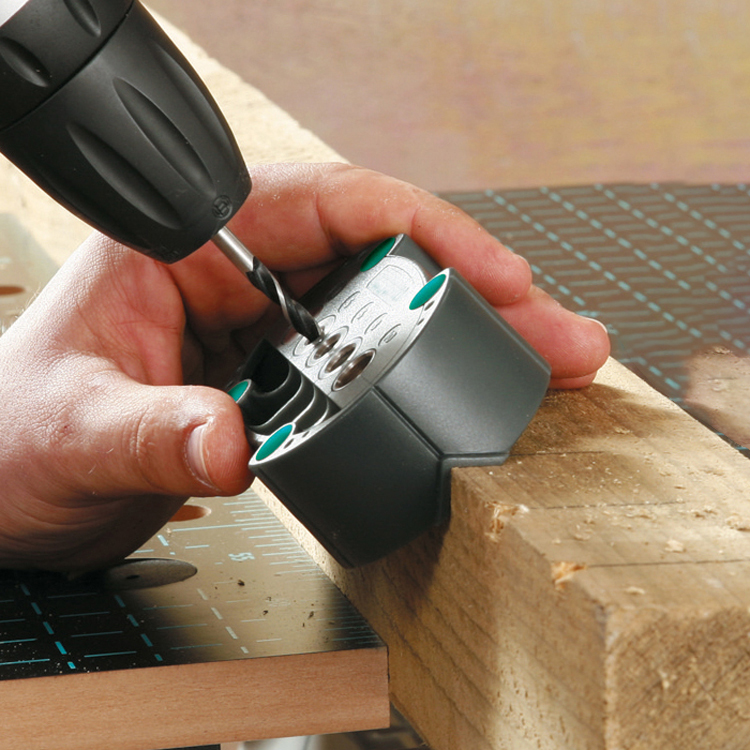 Profesión pasador plantillas Kit de herramienta para trabajar la madera redonda tubo taladro guía con 4/5/6/8/10mm casquillo de broca