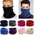 2015 Горячая распродажа зимой Унисекс 3-в-1 многоцелевой Мужской флис поводка шляпа теплые лыжные носить шарф шарф балаклава 9 цветов