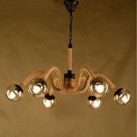 Retro przemysłu restaurant cafe bar żelaza retro sypialnia kreatywny pokrywa szklana wysyłka wiszące liny magiczne lampy GY223 ZH