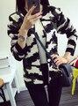 2016 новая мода Женщины Повседневная Трикотажные Свитера С Длинным Рукавом Камуфляж Кардиган Пальто Куртки И Пиджаки
