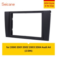 Seicane 2Din 173*98mm refitting Car Radio Panel Face Fascia for Audi A4 Dash Mount Frame Plate Trim Installation Bezel