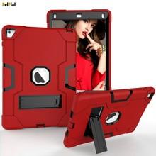 Купить с кэшбэком For iPad Air 2 Case Heavy Duty Shockproof Protective Armor Shell for Apple iPad Air 2 Tablet Case