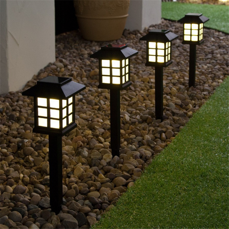 Color Changing LED Garden Solar Light Outdoor Waterproof Ground Lamp Landscape Lawn Light Solar