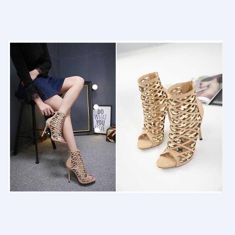 De Vogue Mode Sandales Gladiateur Couleur Pompes Talons multi Mixte Hauts Dames Mariage Picture D'été Chaussures Creux À Stilettos Bal Bottes As Femmes ZTOPkXiu