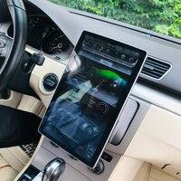 Высокая конфигурация с двумя камерами, процессор Rockchip PX6 Android 8,1 автомобиля gps 12,8 Универсальный 100 ° Вращение Tesla стиль радио bluetooth 32 ГБ памяти