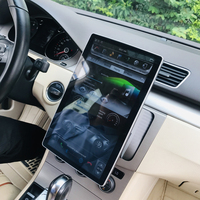 High configuration Rockchip PX6 Android 8.1 Car GPS 12.8 UNIVERSAL 100° rotation Tesla style Radio bluetooth 32GB large memory