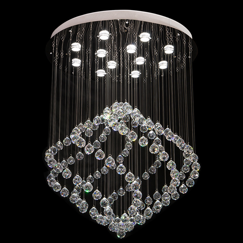 85-265 - v led crystal LAMP sitting room dining-room upscale office crystal droplight villa hotel lobby Absorb dome light with 85 265 v led crystal lamp the hotel lobby kitchen dining
