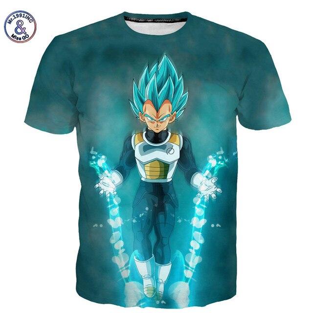 Mr.1991INC&Miss.GO Summer Men/Women Dragon Ball T shirt Naruto 3D T Shirt Cartoon Anime Dragon Ball Print Short sleeves T-shirt