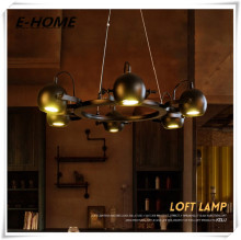 Industrial Wind Restaurant Bar retro iron chandelier creative living room Club clothing store font b spotlights
