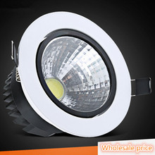 DHL Free Shipping 9W/12W LED Down light COB Dimmable Recessed ceiling downlights Lamp AC85-265V For Home Lighting Decorate