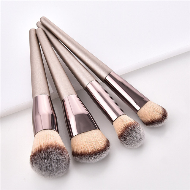 4/10pcs Champagne makeup brushes set for cosmetic  3