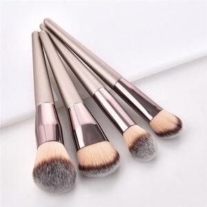 Image 3 - Juego de brochas de maquillaje kabuki, Accesorios de belleza para base y polvos cosméticos, colorete, sombra de ojos, 10 unidades