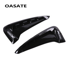 цена на 2Pcs/set ABS Car Front Fender Side Air Vent Cover Trim Car-styling For BMW X Series X5 F15 X5M F85 Shark Gills Side Vent Sticker