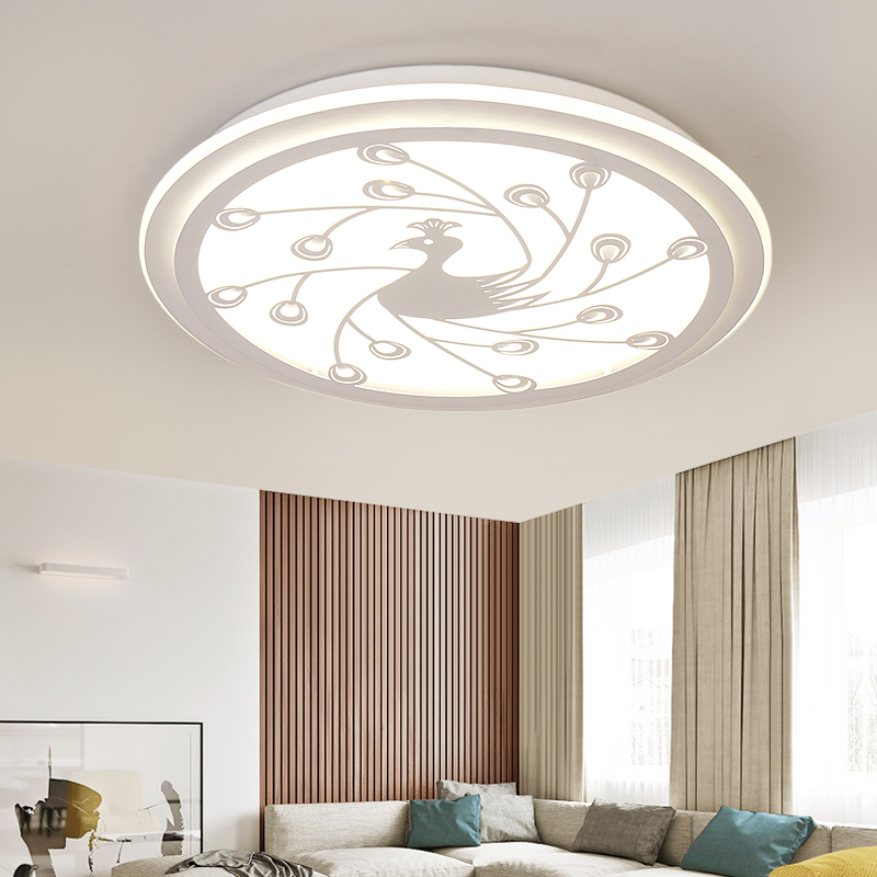 Peacock bedroom led ceiling lamp simple modern peacock living room study room childrens room smart home ceiling light ZA912623