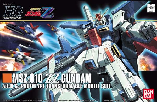 1PCS Bandai HG 1/144 HGUC 111 MSZ-010 ZZ Gundam Mobile Suit Assembly Model Kits Anime action figure Gunpla цена
