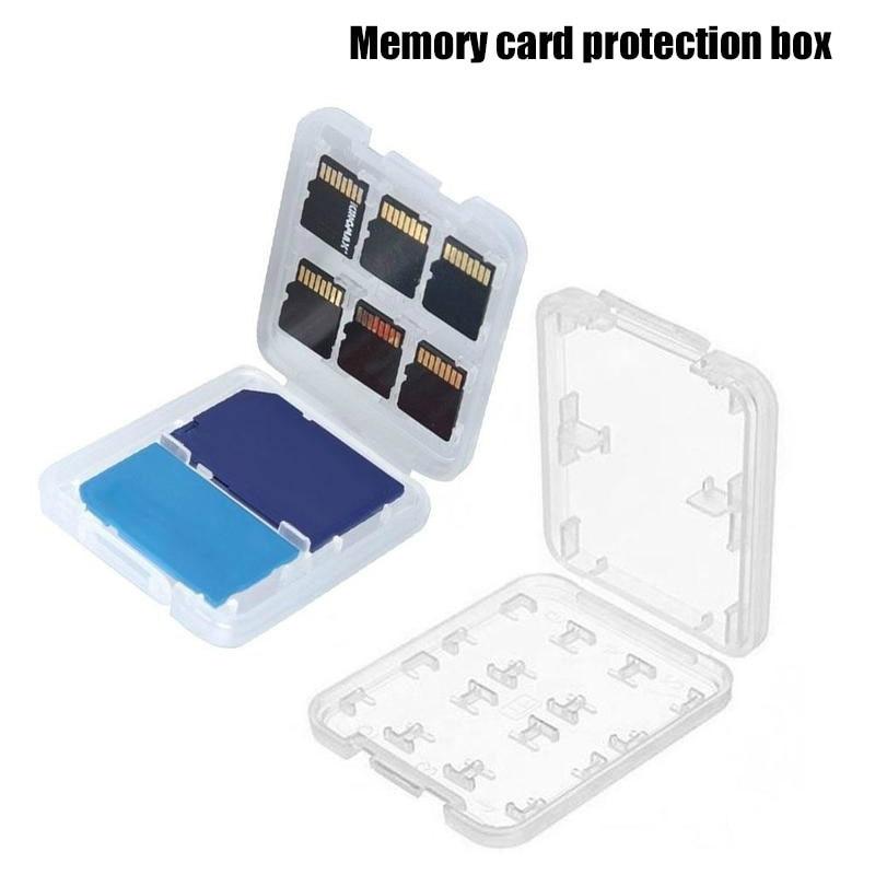 Plastic SD Card Box Portable Storage SD Storage Box Card Organizer Transparent Memory Card Case