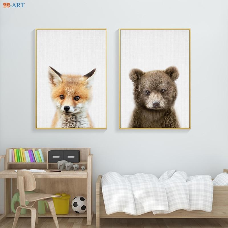 Woodlands Nursery Decor Wall Art Animal