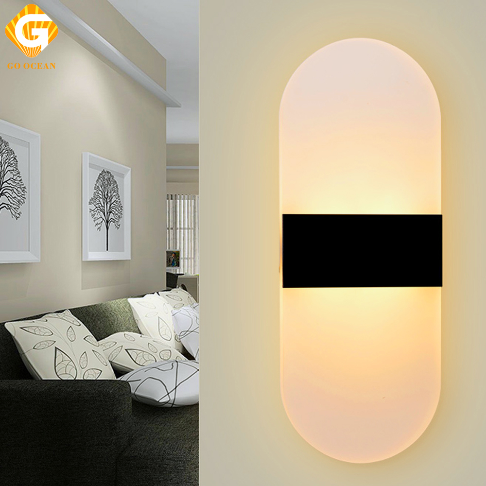 Wall Lights Modern Sconce Fixtures LED Acrylic Wall Lamp Bedroom ...
