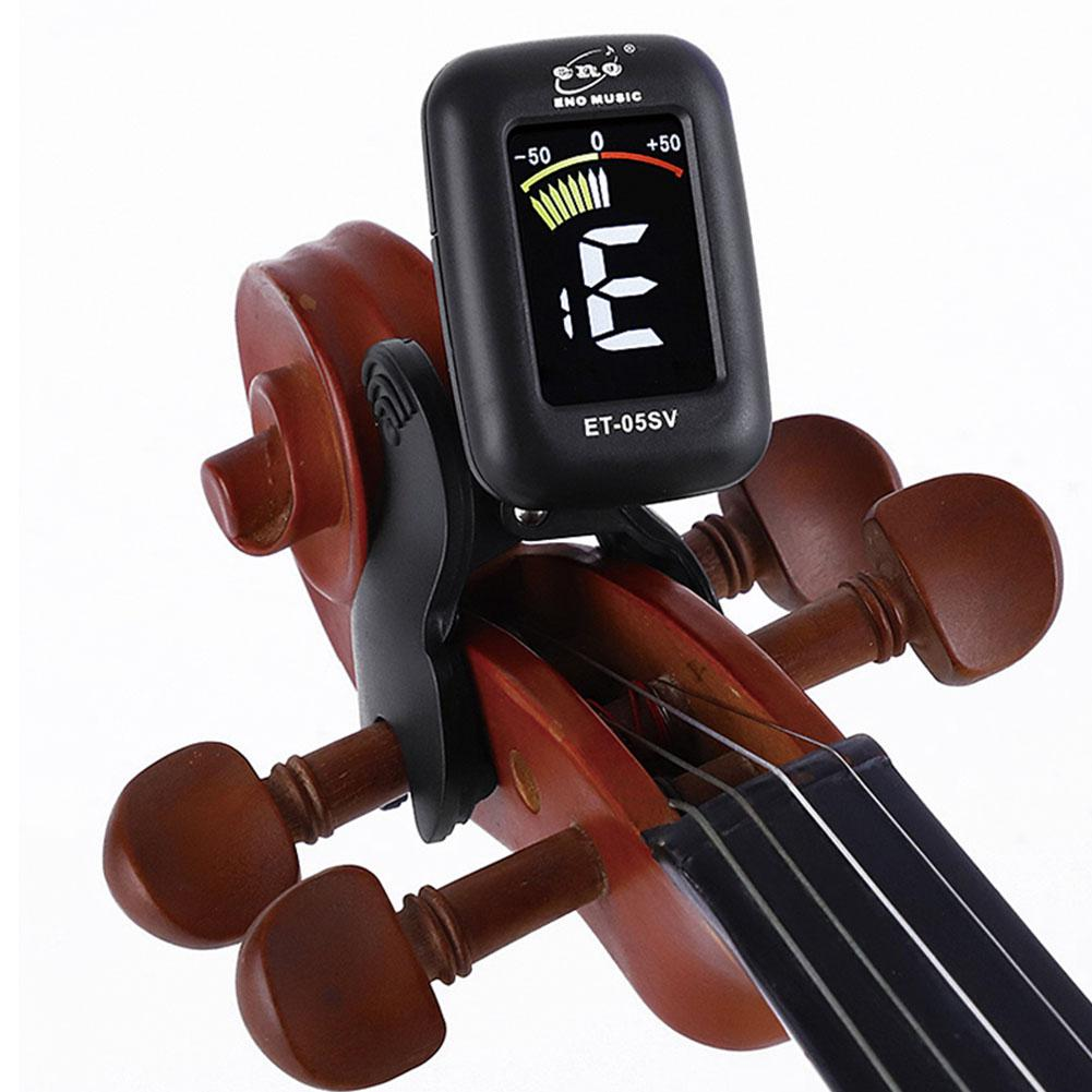 ENO ET05V Violin Tuner Mini Electronic Screen Display Tuner For Violin Viola Cello Clip-on Tuner Portable Digital Violin Parts
