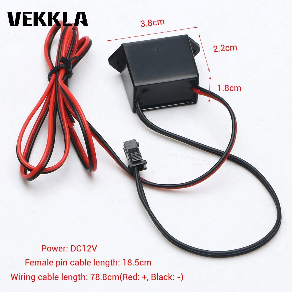 12 В постоянного тока, мини неоновый Электрический провод, инвертор, контроллер, 1-5 м EL провод, кабель, автомобильный транспорт, гибкий неонов...