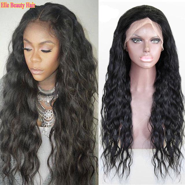 7a Brazilian full head lace front wigs 100% full lace human hair wigs long  wet wavy front lace wigs for women water wave wigs 76865ceaa4