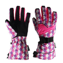 Top Quality Women Skiing Gloves Thicken Warm Windproof Snow Ski Gloves Snowboard Cycling Motorcycle Snowmobile Winter
