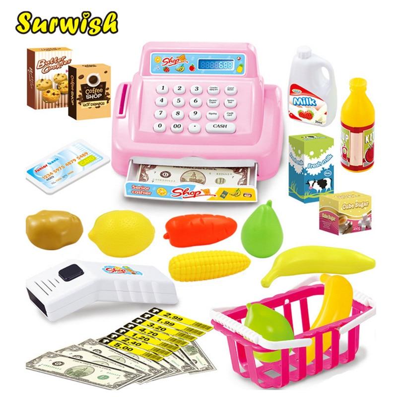 Surwish Kids House Toy Mini Store Shop Cash Register Kit Toy Pretend & Play Play
