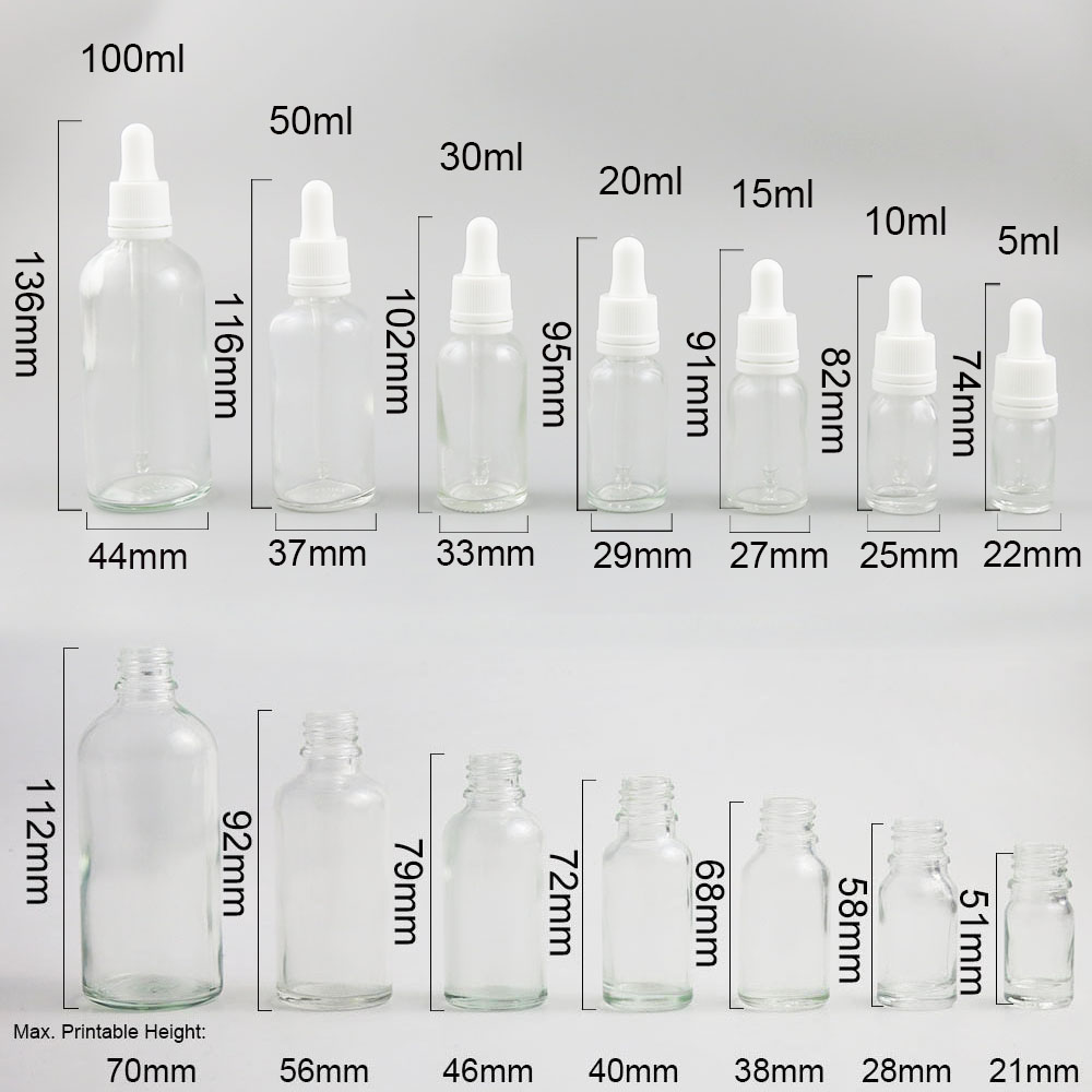 Купить с кэшбэком 10 x 5ml 10ml 15ml 20ml 30ml 50ml 100ml Essential Oil Bottle With Dropper For Liquid Reagent Pipette Refillable Bottle with Lock
